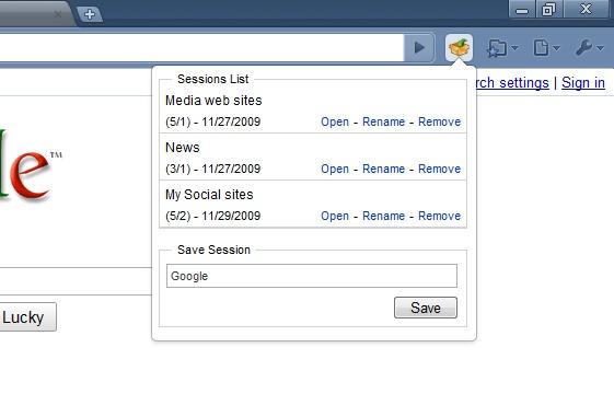 google chrome extension save settings