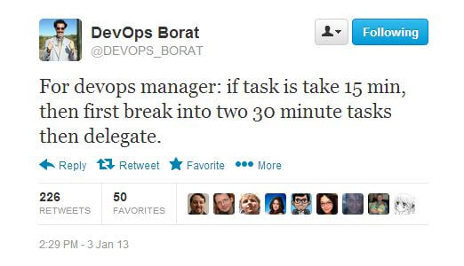 DevOps Borat on DevOps Management