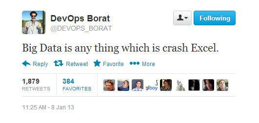 DevOps Borat crashes Excel with data