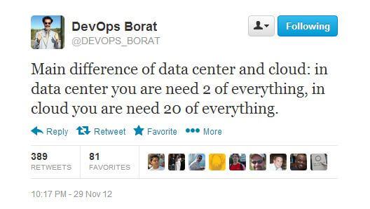 DevOps Borat Data Center vs Cloud