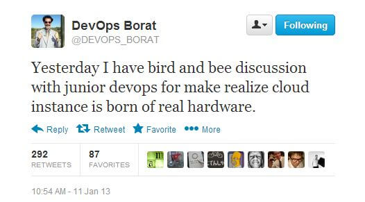 DevOps Borat on Cloud Hardware