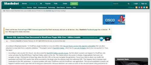 Slashdot Developer Website