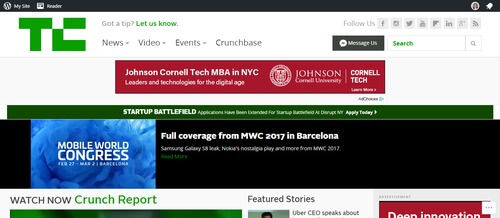 TechCrunch Developer Website
