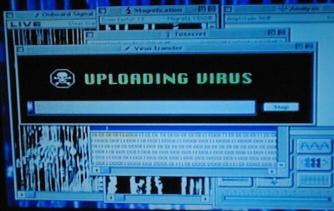 virus scene in independence day