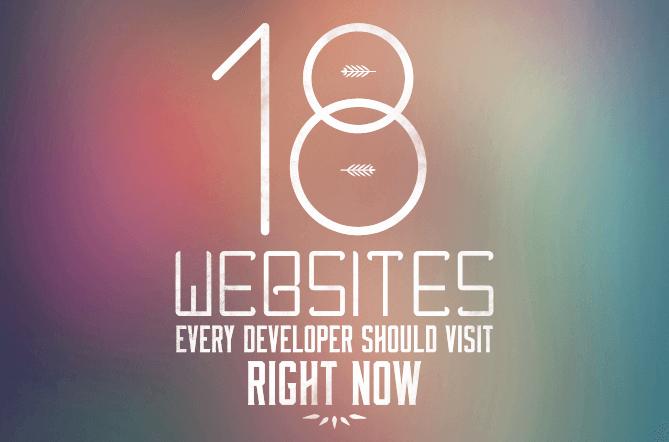 18 websites for developers