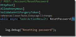 Proactive logging screenshot