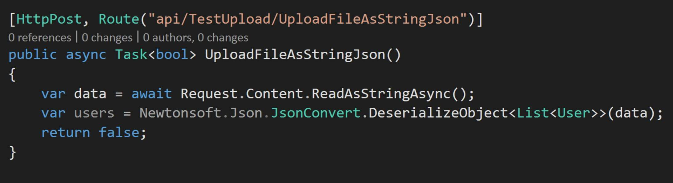 read json manually
