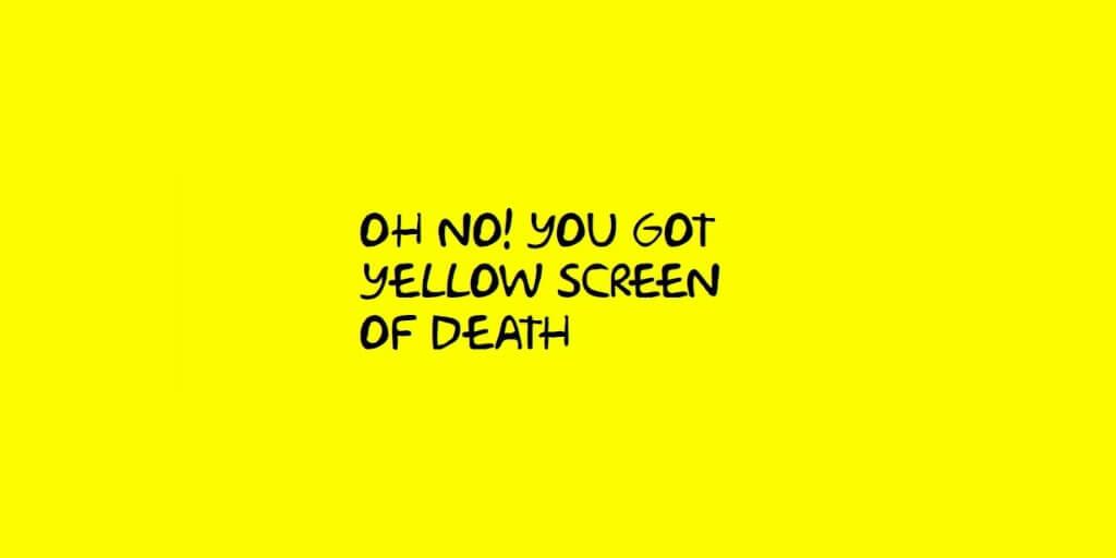 iis error logs yellow screen of death