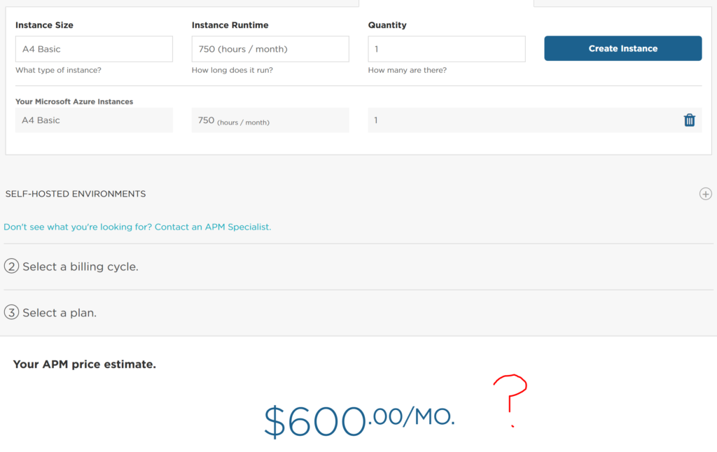 new relic pricing view