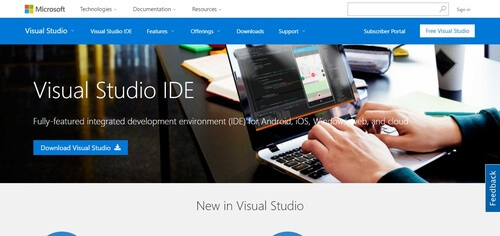 Microsoft Visual Studio IDE
