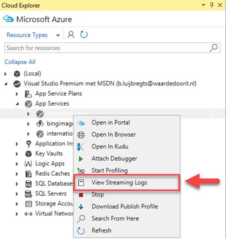 Azure Logging Tutorial for Azure App Services - App logs