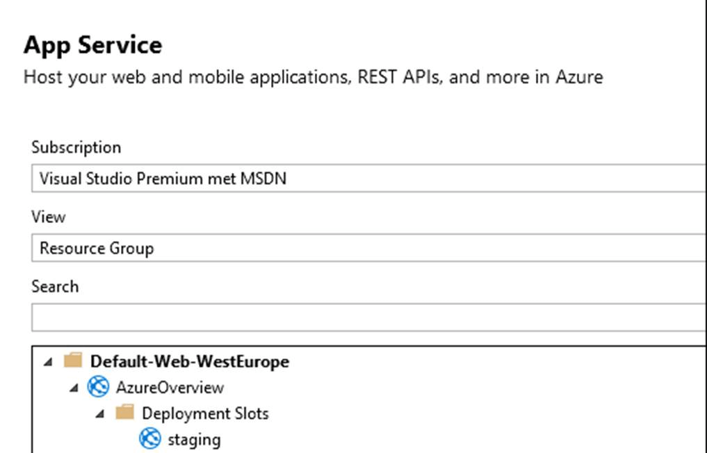 Deploy to azure deployment slot