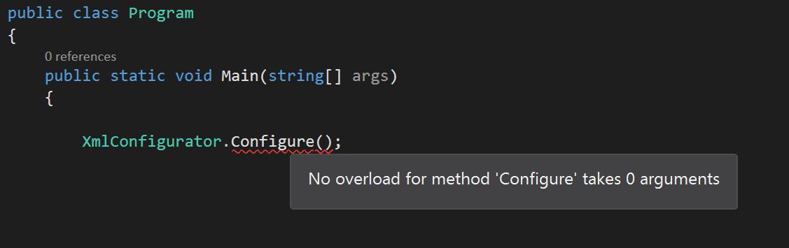Configure log4net for  NET Core: Workaround