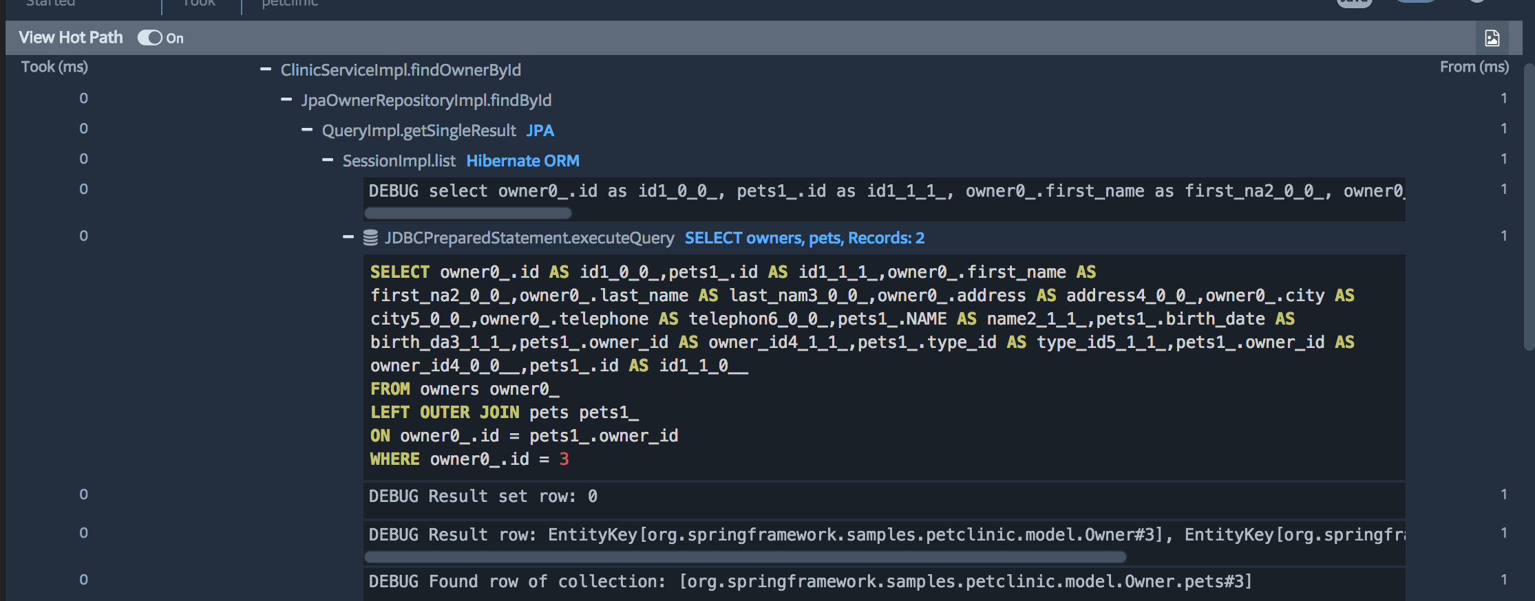 Prefix web request performance trace