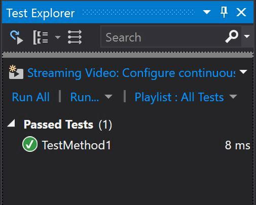 Unit Testing Test Explorer