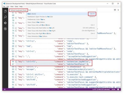 Visual Studio Keymap