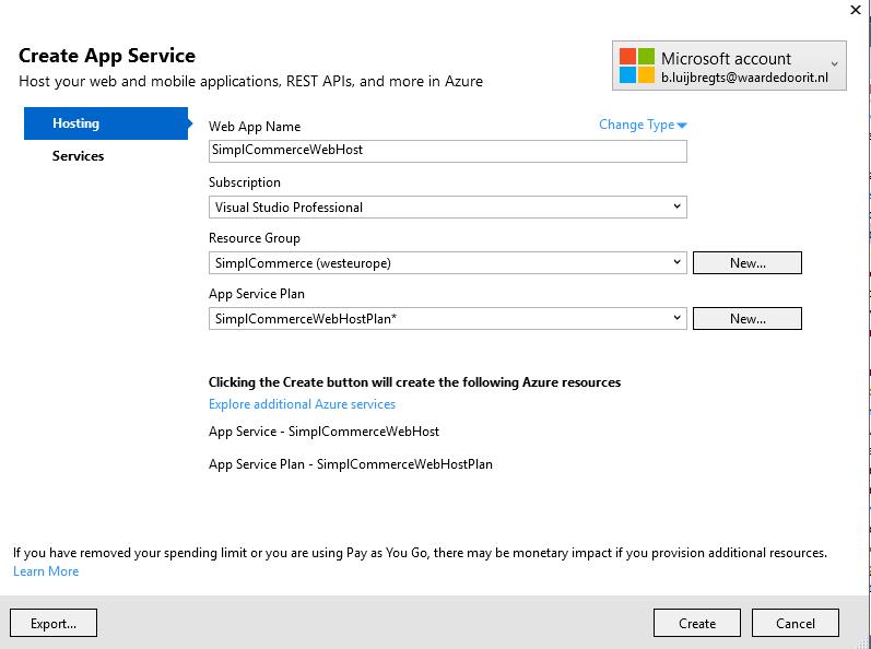Deploy ASP.NET Core to Azure