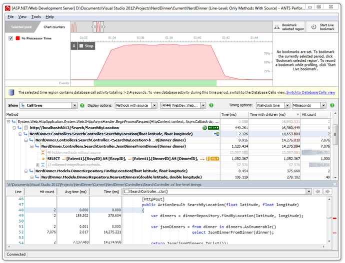 RedGate's ANTS Performance Profiler.