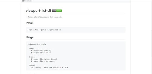 viewport-list-cli