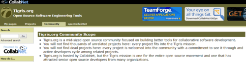 Tigris Source code tool