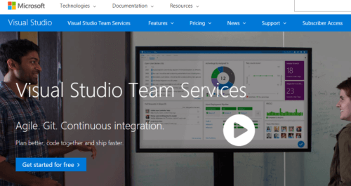 Microsoft Visual Studio Team Services