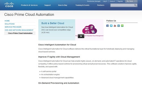 Cisco Intelligent Automation for Cloud