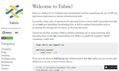 Fabric Website