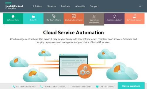 HP Cloud Service Automation
