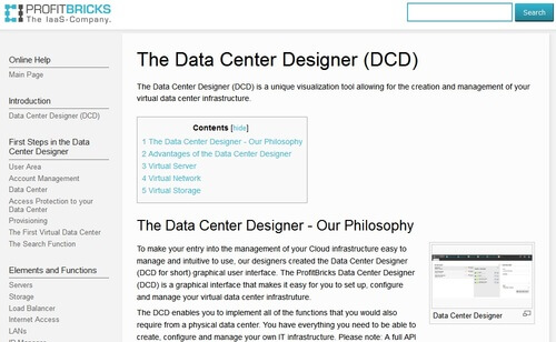 ProfitBricks Data Center Designer