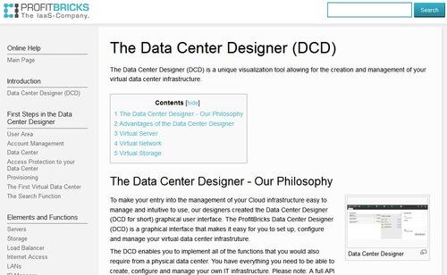 ProfitBricks Data Center Designer