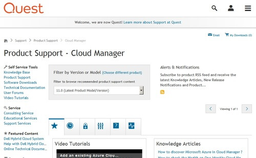 Quest Cloud Manager