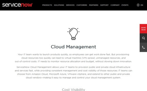 ServiceNow Cloud Management