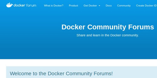 Docker Community Forums