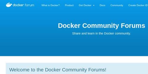Docker Community Forums