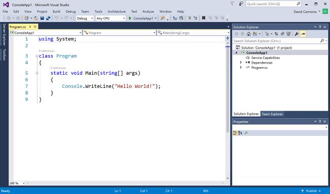 A cross-platform and open-source framework, .NET Core screenshot