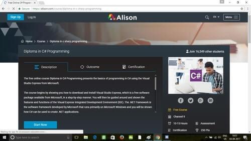 Alison Diploma in C# Programming