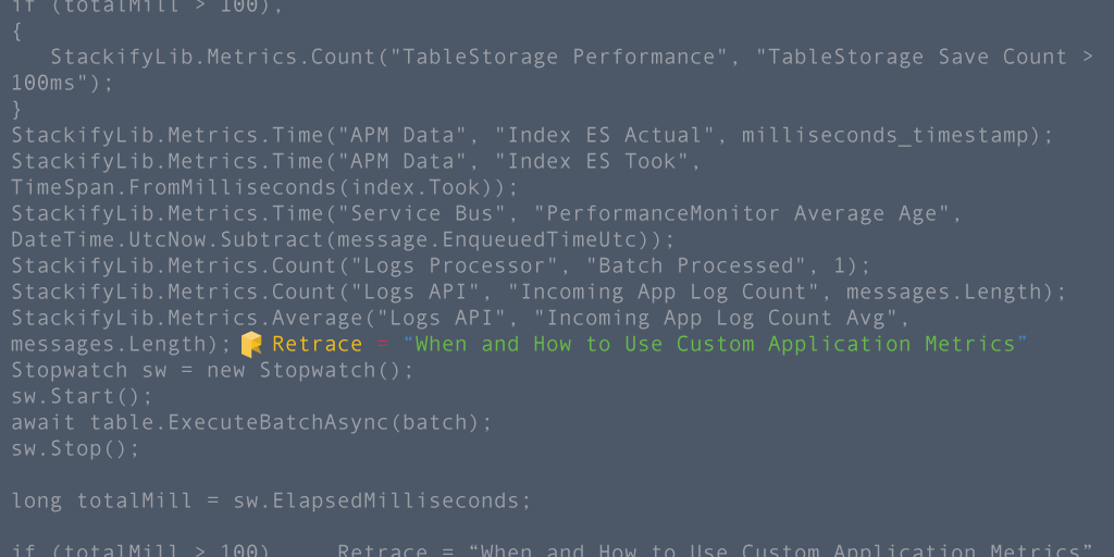 When and How To Use Custom Application Metrics