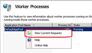 Image result for iis worker process activity