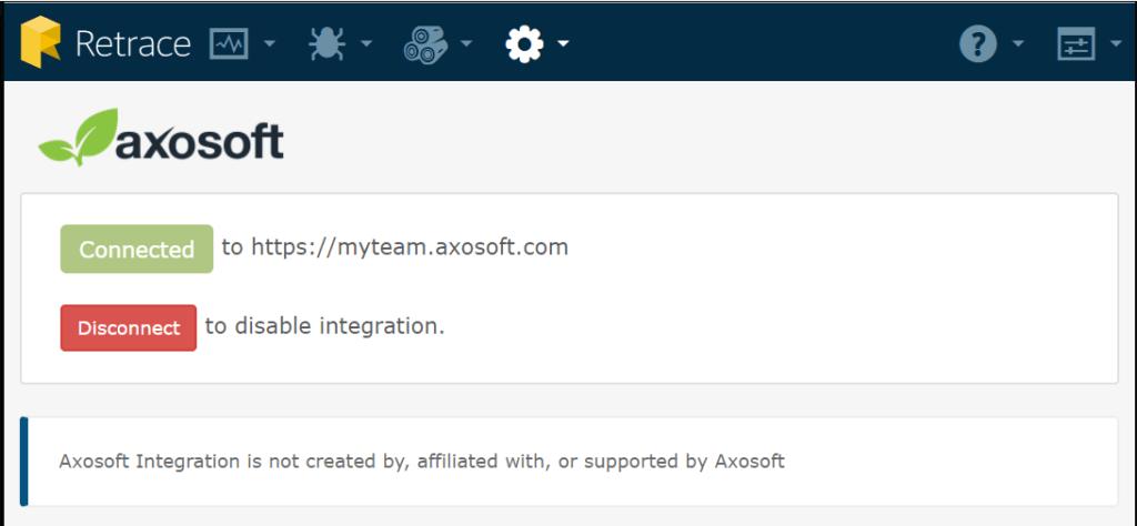 Axosoft Retrace Configuration