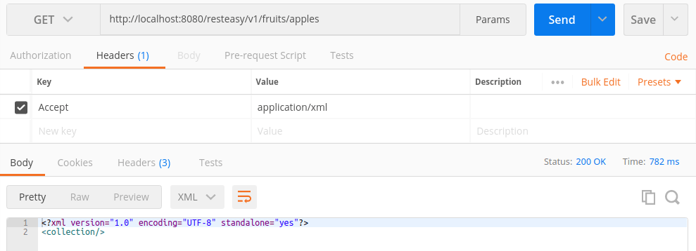 It's more helpful, though, to use a tool like Postman, explicitly specifying the Accept header as application/xml: