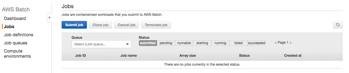 AWS Batch guide jobs