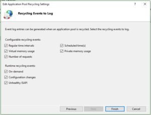 IIS Application Pool Recycle Events to Log
