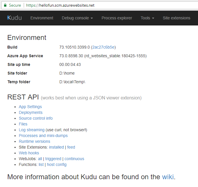 The Kudu web UI.