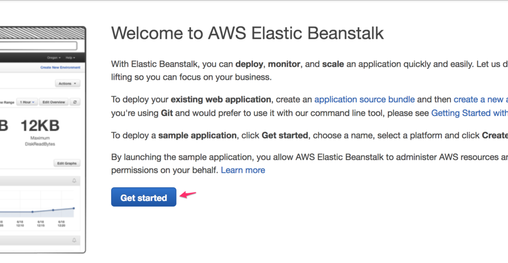 Creating a .NET Application in AWS Beanstalk - Screenshot