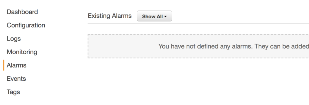 Alarms and Notifications in AWS Beanstalk
