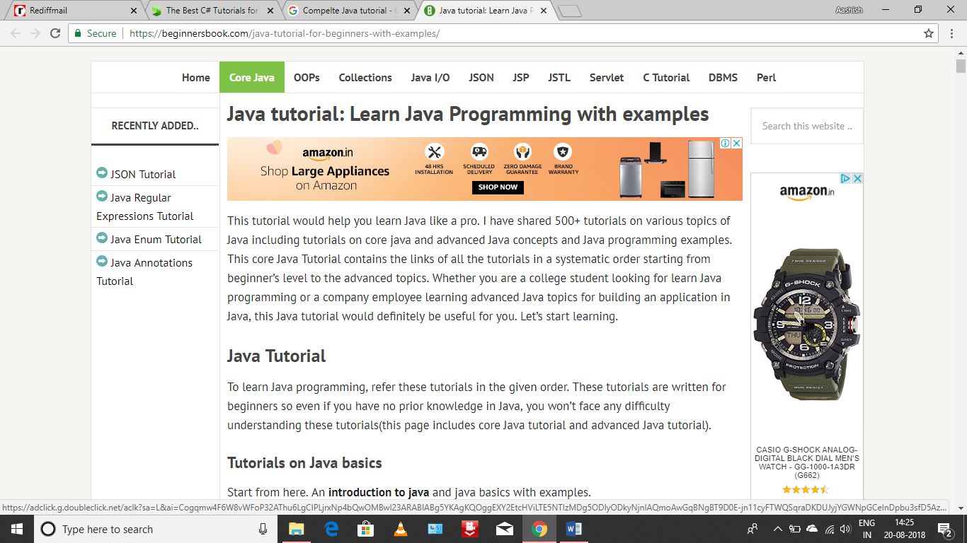 Public Online Java Course Open Enrollment