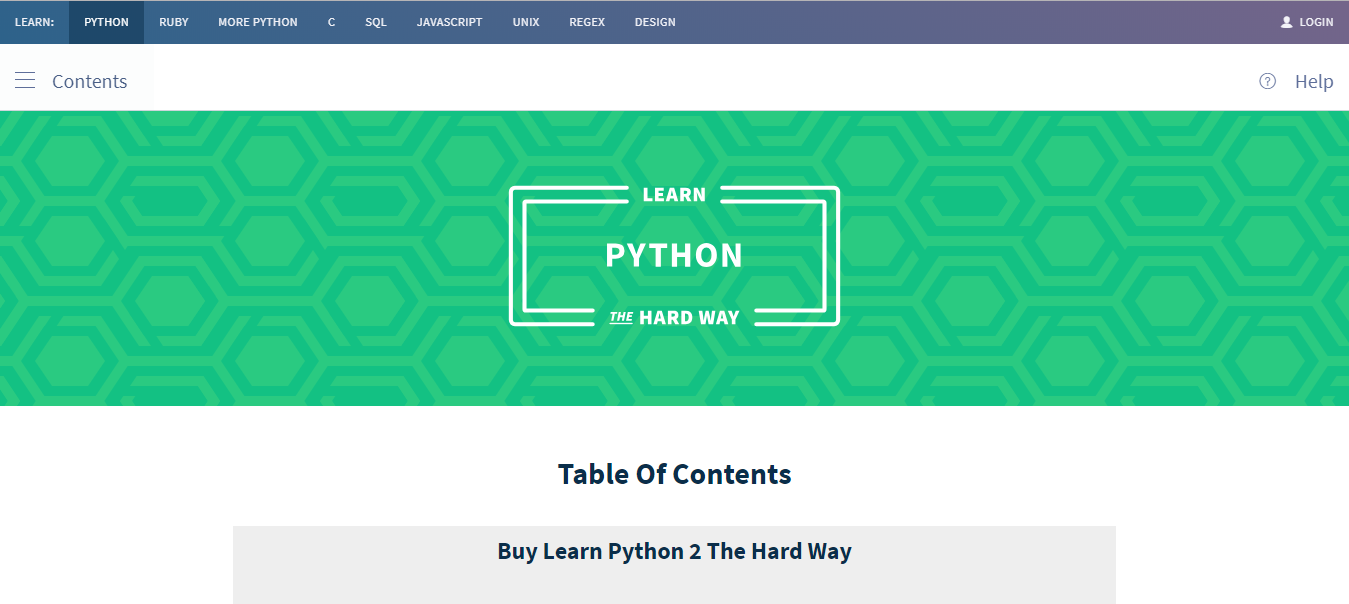 Learn Python the Hard Way Tutorial