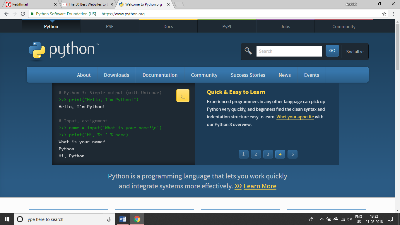 Learn Python: Tutorials for Beginners, Intermediate, and
