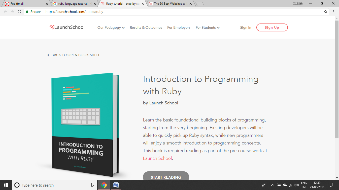 Launch School Ruby Tutorial