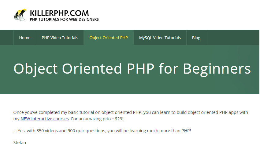 php oop tutorial step by step